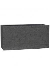 Кашпо stone jort m, laterite grey l100 w40 h50 см