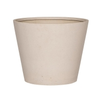 Кашпо refined bucket s natural white d50 h40 см