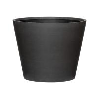 Кашпо refined bucket s volcano black d50 h40 см