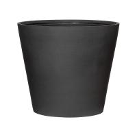 Кашпо refined bucket m volcano black d58 h50 см
