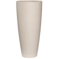 Кашпо refined dax l natural white d37 h80 см