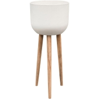 Кашпо refined retro with feet landon natural white d40 h97 см
