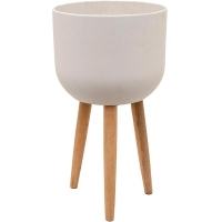 Кашпо refined retro with feet logan natural white d40 h74 см