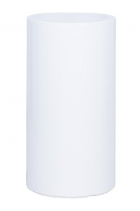 Кашпо premium classic white (straight) d42 h75 см