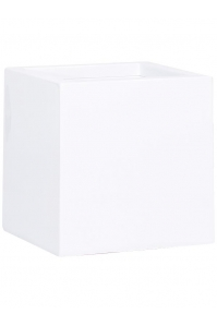 Кашпо premium cubus white l40 w40 h40 см