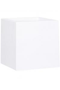 Кашпо premium cubus white l50 w50 h50 см