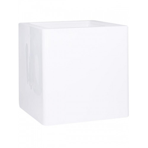 Кашпо premium cubus white l100 w100 h100 см