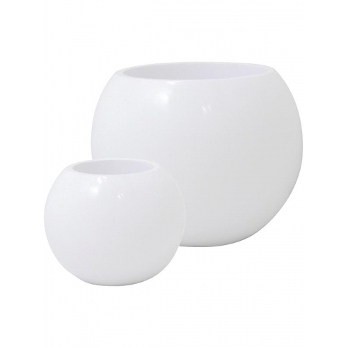 Кашпо premium globe white d60 h45 см