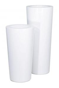 Кашпо premium konus white d48 h91 см