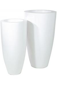 Кашпо premium luna white d38 h80 см