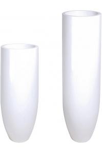 Кашпо premium pandora white d35 h90 см