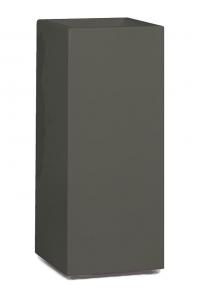 Кашпо premium tower column quartz grey l36 w36 h90 см