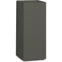 Кашпо premium tower column quartz grey l36 w36 h90 см