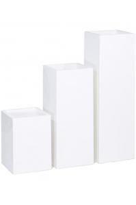 Кашпо premium tower column white l36 w36 h50 см