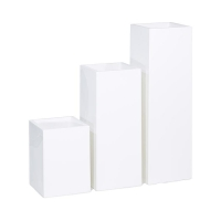 Кашпо premium tower column white l36 w36 h50 см
