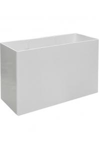 Кашпо prestige rectangular structure ral 9010 l90 w40 h60 см