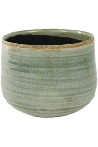Кашпо indoor pottery pot iris mint (per 4 pcs.) d18 h15 см