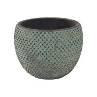 Кашпо indoor pottery pot fay blue gold (per 6 pcs.) d16 h12 см