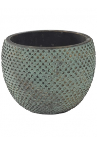Кашпо indoor pottery pot fay blue gold (per 4 pcs.) d18 h14 см