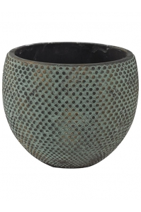 Кашпо indoor pottery pot fay blue gold (per 2 pcs.) d20 h16 см