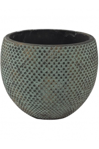 Кашпо indoor pottery pot fay blue gold (per 2 pcs.) d24 h19 см
