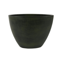 Кашпо indoor pottery planter esra green (per 2 pcs.) l33 w16 h25 см