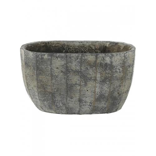 Кашпо indoor pottery boat ellis earth l25 w14 h14 см