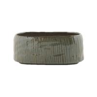 Кашпо indoor pottery boat senne ice green (per 6 pcs.) l27 w13 h11 см
