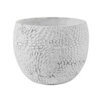 Кашпо indoor pottery pot mick white (per 6 pcs.) d16 h13 см