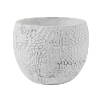 Кашпо indoor pottery pot mick white (per 4 pcs.) d18 h14 см