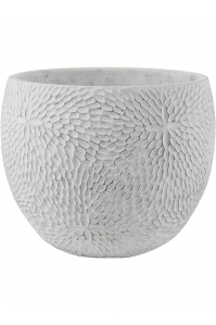 Кашпо indoor pottery pot mick white (per 4 pcs.) d21 h16 см