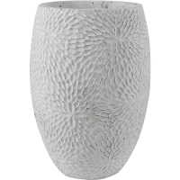 Кашпо indoor pottery pot high mick white (per 2 pcs.) d19 h27 см