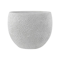 Кашпо indoor pottery planter mick white l36 w20 h29 см