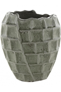 Кашпо indoor pottery pot high square design mint (per 6 pcs.) d17 h19 см