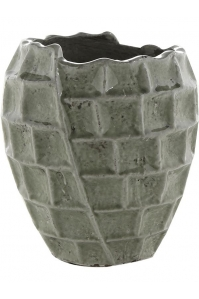 Кашпо indoor pottery pot high square design mint (per 4 pcs.) d21 h23 см