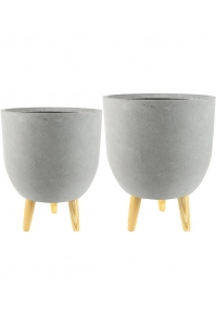 Кашпо indoor pottery pot ruth light grey (set a 2 pcs.) d32 h41 см