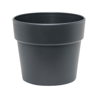 Кашпо indoor pottery classic pot synthetic 16/14 cm anthracitgrey mat (13/12) d16 h14 см