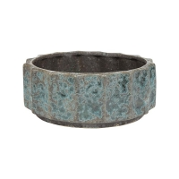 Кашпо indoor pottery pot leoni grey blue (per 6 pcs.) d26 h10 см
