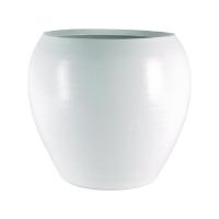 Кашпо indoor pottery pot cresta pure white d28 h25 см