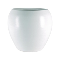 Кашпо indoor pottery pot cresta pure white d37 h32 см