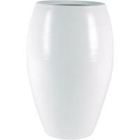 Кашпо indoor pottery pot cresta pure white d23 h35 см