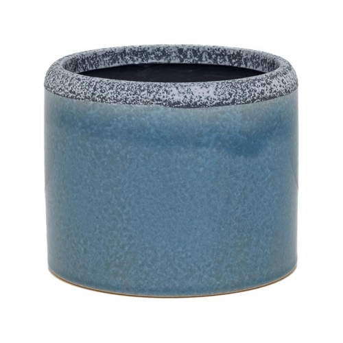 Кашпо indoor pottery (13/12) so good for hydro (grey-blue) d16 h14 см
