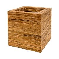 Кашпо rattanplanter kubis natural l44 w44 h44 см