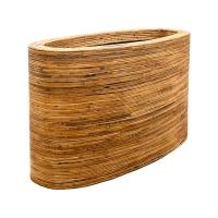 Кашпо rattanplanter oval natural l110 w42 h62 см