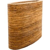Кашпо rattanplanter oval natural l110 w42 h92 см