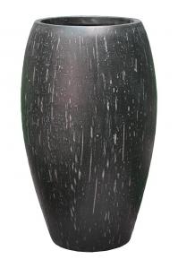 Кашпо raindrop emperor anthracite d53 h88 см