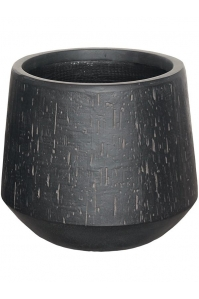 Кашпо raindrop darcy anthracite d41 h37 см