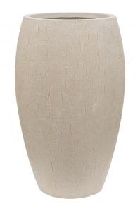 Кашпо raindrop emperor beige d37 h60 см