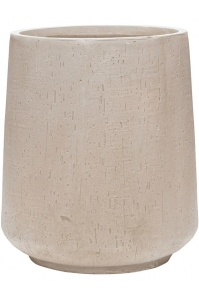 Кашпо raindrop darcy high beige d37 h42 см