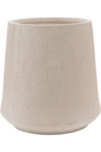 Кашпо raindrop darcy high beige d55 h55 см